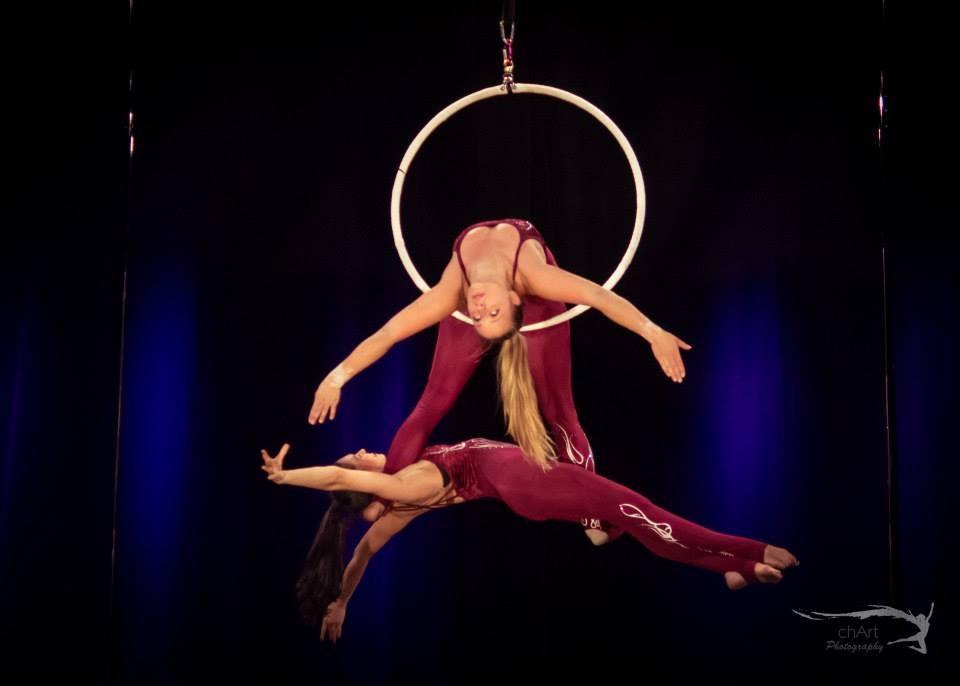 Monica Nenkova,Bulgaria,31 years old Sonja Peta, Germany,30 years old Pole Dance and Aerial artists