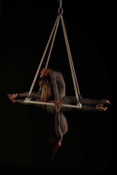 Louise & Natasha Aerial Duo on a triangle