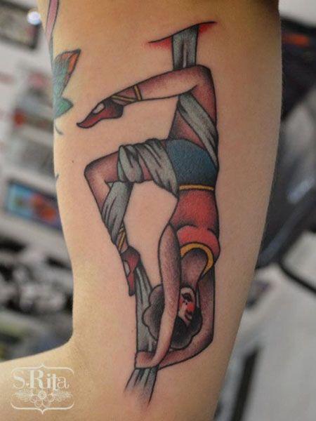 Ribbon Acrobat Tattoo by S. Rita