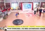 pole fitness live on TV show