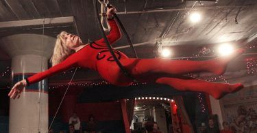 On 90th birthday, aerialist takes final swing on trapeze at City Museum