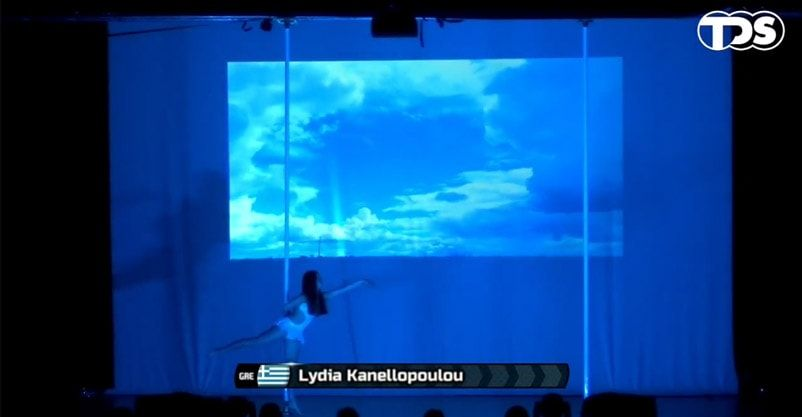 First Greek participation with Lydia Kanellopoulou, 13 years old, in Pole Art's World Championship