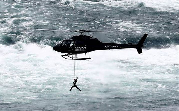 Aerialist Erendira Wallenda Dangles Over Niagara Falls By Her Teeth