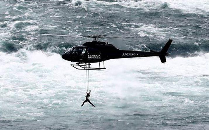 Aerialist Erendira Wallenda Dangles Over Niagara Falls By Her Teeth