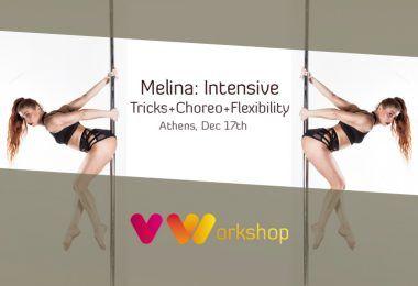 5ωρο εντατικό training με τη Μελίνα: Pole Tricks+Choreo+Flexibility